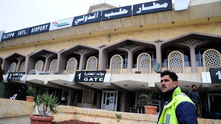 Trois deputés français ont été retardés samedi 7 janvier à l'aéroport d'Alep à cause d'obus (AMMAR SAFARJALANI/XINHUA/SIPA)