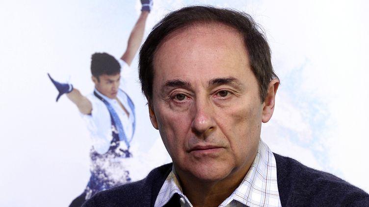 Le président de la Fédération des sports de glace,Didier Gailhaguet, le 7 février 2014 à Sotchi, en Russie. (FRANCK FIFE / AFP)