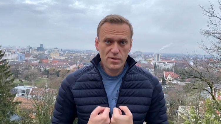 Une capture d'écran d'une vidéo postée parAlexeï Navalny depuis l'Allemagne, le 13 janvier 2021. (COMPTE INSTAGRAM D'ALEXEI NAVALNY / AFP)