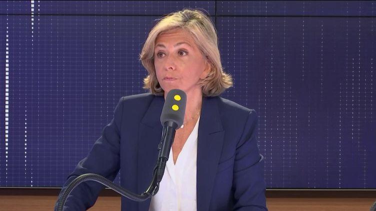 """Valérie Pécresse, présidente Les Républicains de la région Île-de-France, invitée du """"8h30 Cadet-Bertolus"""", vendredi 3 mai 2019. (FRANCEINFO / RADIOFRANCE)"""