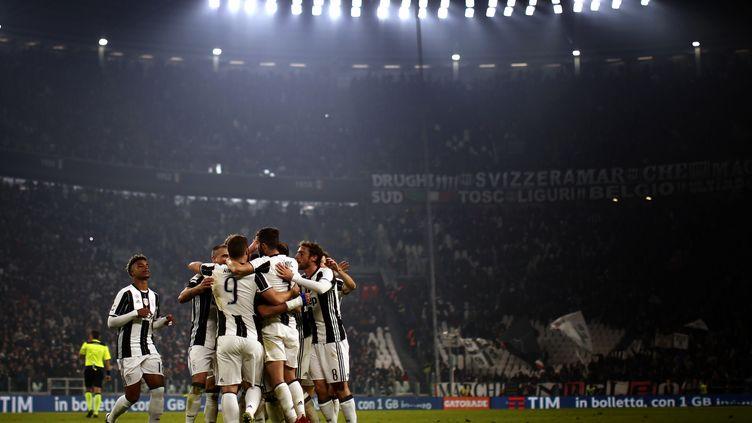 La joie des joueurs de la Juve (MARCO BERTORELLO / AFP)