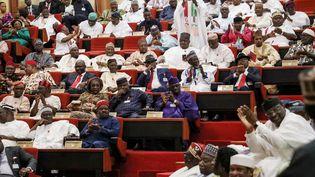 Des sénateurs nigérians assistent à l'ouverture de la 9e session de l'Assemblée nationale à Abuja, le 11 juin 2019. (KOLA SULAIMON / AFP)