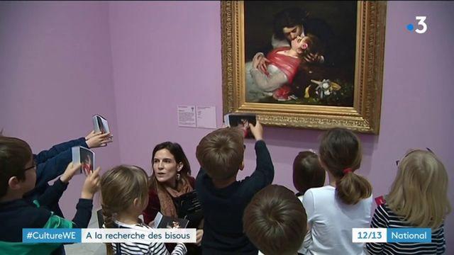 Culture : une visite de musée pour les enfants sous le signe des bisous