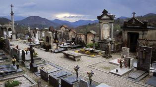 Pour avoir vidé des tombes et déversé les ossements dans une carrière à ciel ouvert, ce patron de pompes funèbres risqueun an de prison et 15 000 euros d'amende. (BRANKO DE LANG / BILDERBERG / AFP)