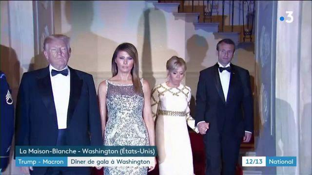 Trump-Macron : dîner de gala cordial à Washington sur fond de désaccords