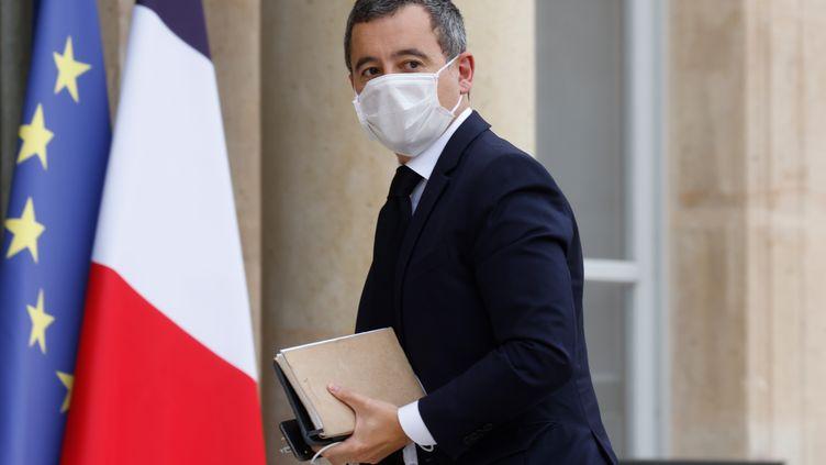 Le ministre de l'Intérieur, Gérald Darmanin, à l'Elysée, le 19 octobre 2020. (LUDOVIC MARIN / AFP)