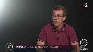 Le journalisteValentin Gendrot. (France 2)