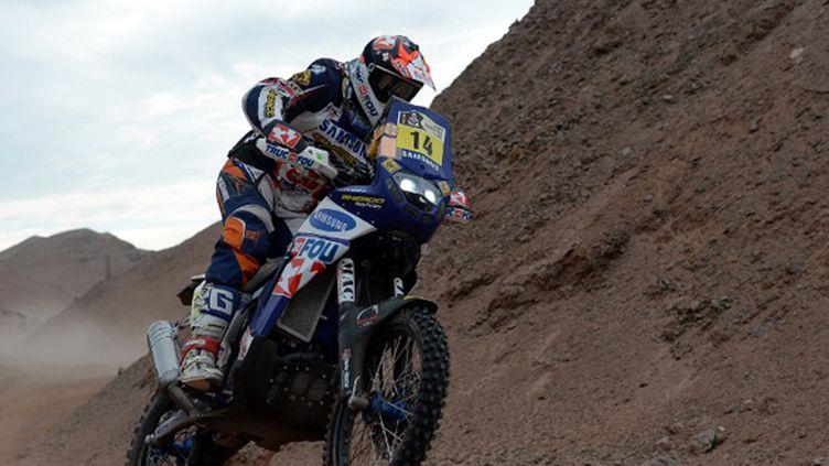 Alain Duclos (Sherco) sur le Dakar 2013 (FRANCK FIFE / AFP)