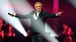 Michel Sardou, lors de son dernier concert, à la Seine Musicale, à Boulogne-Billancourt, le 12 avril 2018. (MAXPPP)