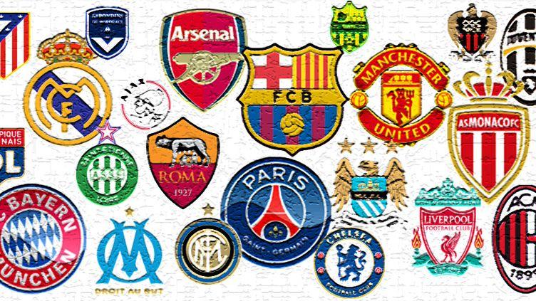Les clubs de L1, Premier League, Liga, Serie A, Bundesliga