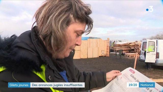"""""""Gilets jaunes"""" : les annonces d'Edouard Philippe jugées insuffisantes"""
