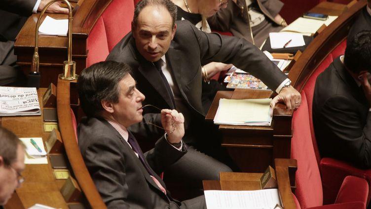 Francois Fillon et Jean-Francois Copé à l'Assemblée nationale, le 30 janvier 2013. (MAXPPP)