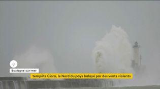 La tempête Ciara à Boulogne-sur-Mer (FRANCEINFO)