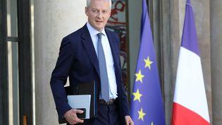 Le ministre de l'Economie Bruno Le Maire après un conseil des ministres, le 12 septembre 2018 à Paris. (LUDOVIC MARIN / AFP)