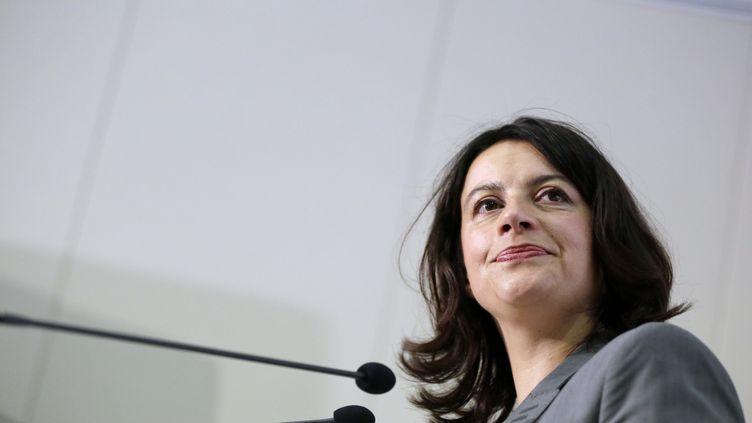 Cécile Duflot, ministre du Logement et de l'Egalité des territoires,devant le conseil fédéral de son parti EELV, le 23 juin 2012, à Paris. (KENZO TRIBOUILLARD / AFP)