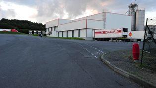 L'abattoir Gad de Lampaul-Guimiliau (Finistère), le 10 octobre 2013. (  MAXPPP)