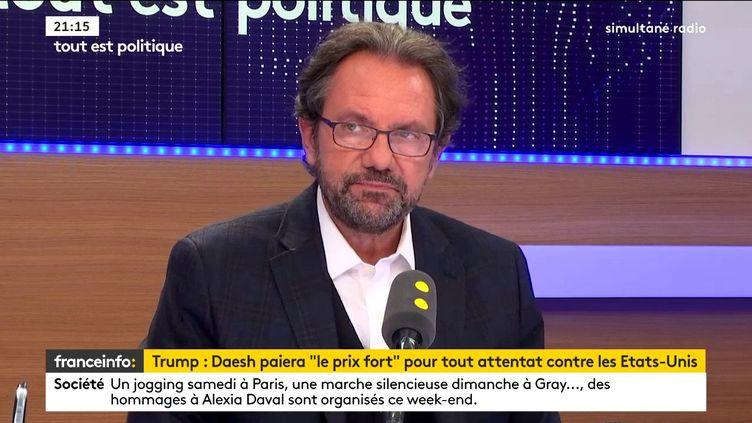 Frédéric Lefebvre était l'invité de Tout est politique, vendredi 3 novembre sur franceinfo. (FRANCEINFO / RADIOFRANCE)