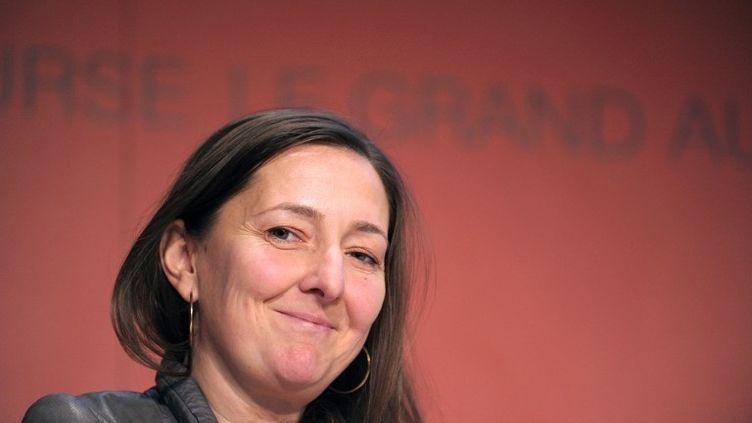 Karine Berger, députée PS des Hautes-Alpes, lors d'une conférence de l'Autorité des marchés financiers, à Paris, le 28 novembre 2013. (ERIC PIERMONT / AFP)