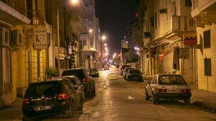 Une rue près de l'avenue Habib Bourguiba, à Tunis, le 9 octobre 2020. (YASSINE GAIDI / ANADOLU AGENCY)