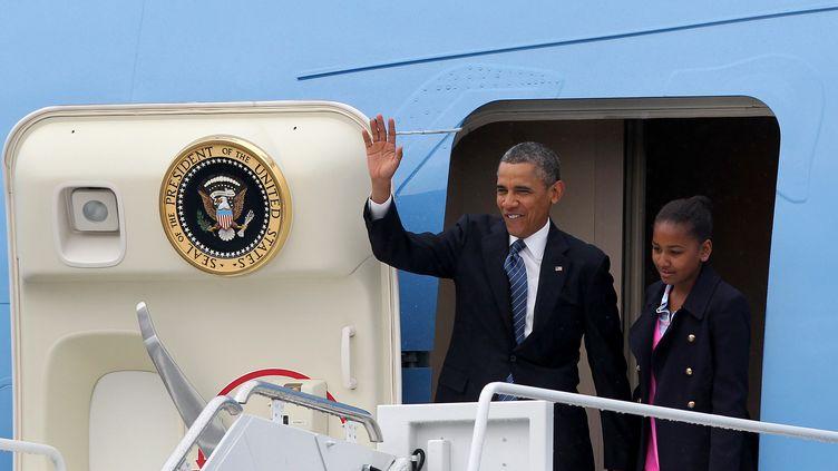 Le président américain Barack Obama, le 17 juin 2013 à Belfast, en Irlande du Nord. (PETER MUHLY / AFP)