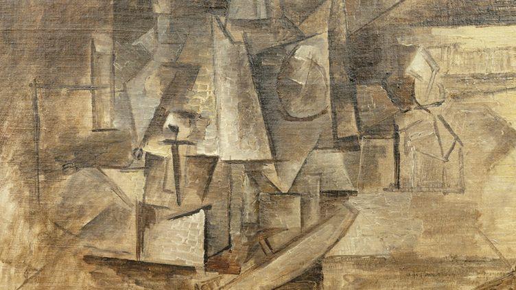 La Coiffeuse de Picasso, 1911, huile sur toile, 33 x 46 cm, Legs de Georges Salles, 1967, Paris, Centre Pompidou, Musée national d'art moderne-Cci  (Centre George Pompidou)