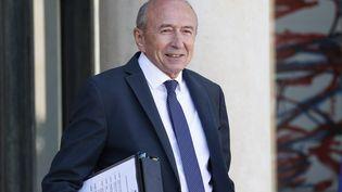 Gérard Collomb, ministre de l'Interieur, à la sortie du conseil des ministres sur le perron de l'Elysée, le 12 septembre 2018. (LEON TANGUY / MAXPPP)