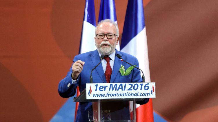 Wallerand de Saint-Just, à Paris, le 1er mai 2016. (CITIZENSIDE / YANN BOHAC / AFP)