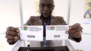 Le collectif Votation citoyenne, qui milite pour le droit de vote des étrangers,a organisé son propre référendum, à Paris, le 23 mars 2008. (STEPHANE DE SAKUTIN / AFP)
