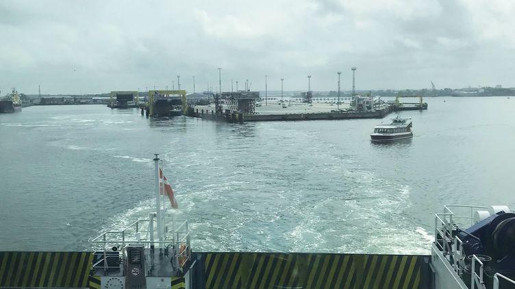 Ferry au départ de Rostock (Allemagne), vers le Danemark (ERIC AUDRA / RADIO FRANCE)