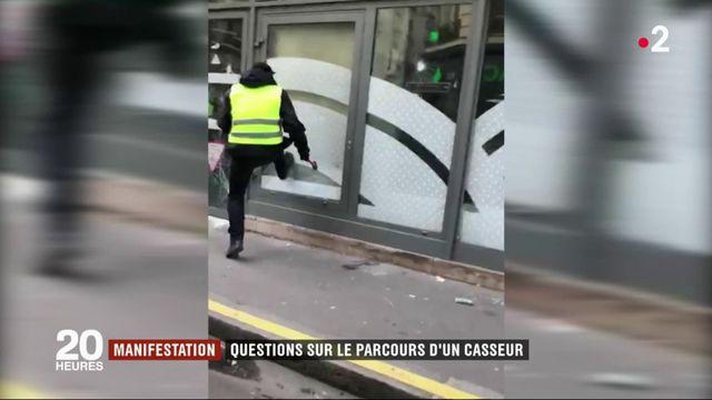 Manifestations : questions sur le parcours d'un casseur filmé par la police