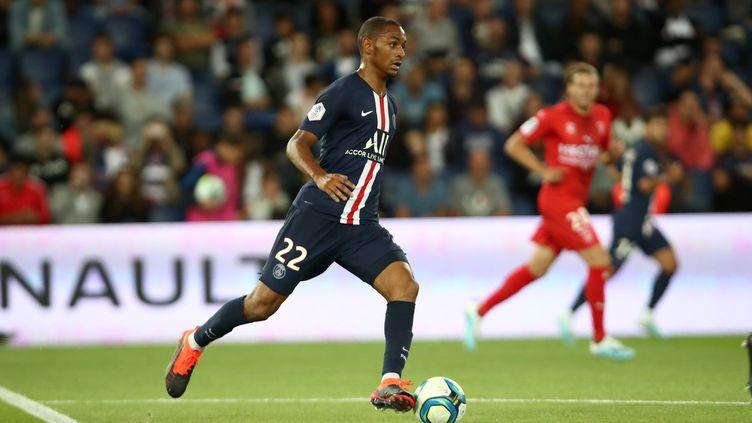 Abdou Diallo lors de PSG - Nimes Olympiques (première journée de Ligue 1) (ARNAUD JOURNOIS / MAXPPP)