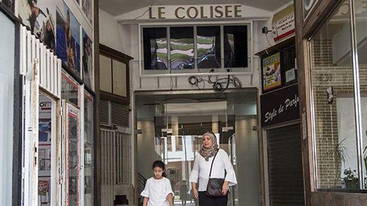 Salles insonorisées, fauteuils design, projecteurs dernier cri... l'ancien cinéma Le Colisée, à Rabat, a été refait de fond en comble. (Fadel Senna /AFP)