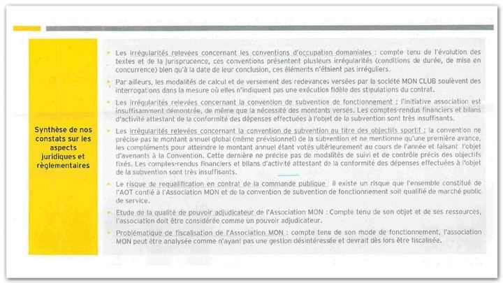 Extrait du rapport commandé par l'agglomération de Mulhouse sur la gestion du MON (CELLULE INVESTIGATION DE RADIO FRANCE)