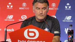 L'entraîneur du LOSC Christophe Galtier, en juillet 2020 (BENOÎT DEQUEVAUVILLER / FRANCE-BLEU NORD)
