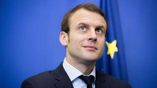 Le ministre de l'Economie, Emmanuel Macron, le18 avril 2016 à Paris. (MAXPPP)