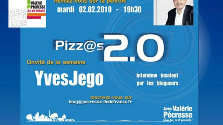 """Le """"carton d'invitation"""" aux soirées """"pizz@s 2.0"""" d'Yves Jego"""