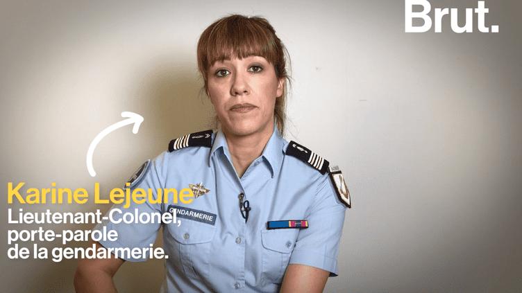 La lieutenant-Colonel Karine Lejeune dénonce les différentes violences faites aux femmes (Brut.)