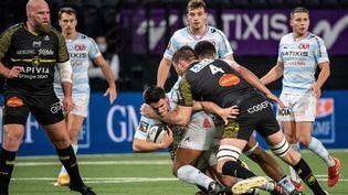 Nolan Le Garrec du Racing lors du match du Top 14 de rugby à XV entre le Racing 92 et La Rochelle au stade La Defense Arena de Nanterre, le 7 février 2021. (BERTRAND GUAY / AFP)