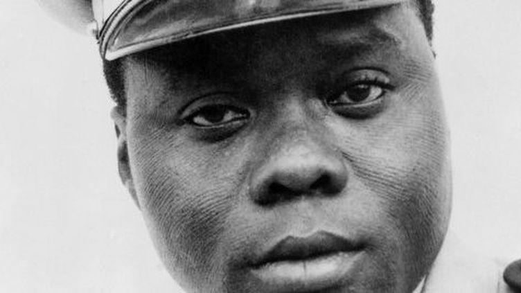 Portrait du président Mathieu Kérékou ou Ahmed Kérékou, publié le 30 octobre 1972. Il fut président du Bénin de 1972 à 1991 et de 1996 à 2006. L'ancien président est décédé le 14 octobre 2015 à Cotonou, au Bénin.