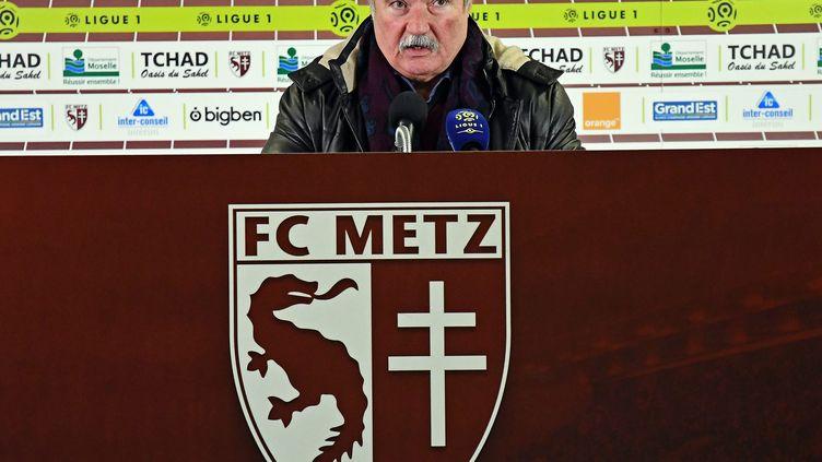 Bernard Serin, le président du FC.Metz (STEPHANE GUIOCHON / MAXPPP)
