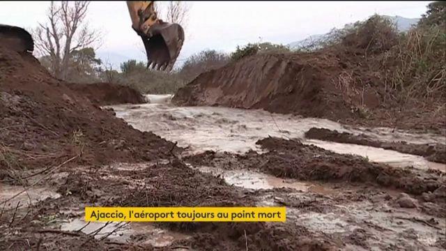 Corse : la tempête Fabien a noyé l'aéroport d'Ajaccio pour les fêtes de fin d'année