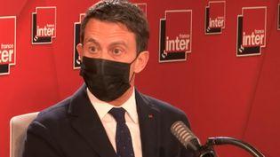 Manuel Valls, le 22 mars 2021. (FRANCE INTER / RADIO FRANCE)