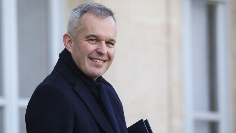 Le ministre de la Transition écologique et solidaire, François de Rugy, le 16 janvier 2019 dans la cour de l'Elysée à Paris, après le Conseil des ministres. (LUDOVIC MARIN / AFP)