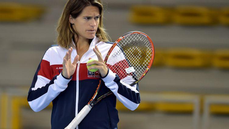 L'ancienne joueuse de tennis, Amélie Mauresmo (PATRICK HERTZOG / AFP)