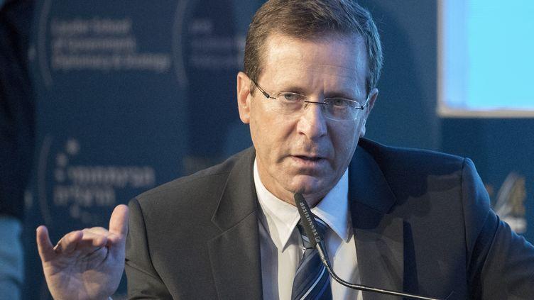 L'homme politique israélienIssac Herzog à Herzliya (Israël), le 22 juin 2017. (JACK GUEZ / AFP)