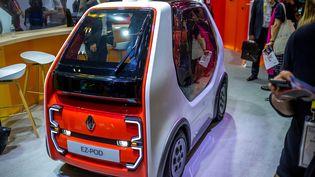Un prototype de véhicule autonome présenté par Renault au salon Viva Technologie à Paris, le 16 mai 2019. Photo d'illustration. (BRUNO LEVESQUE / MAXPPP)