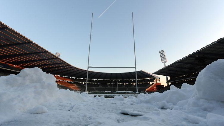 Le Stade du Roi Baudouin à Bruxelles, où un match entre le Stade Français et la province nord-irlandaise de l'Ulster a été annulé, le 19 décembre 2009. (JOHN THYS / AFP)