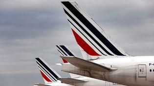 Des dérivesd'avions Air France à l'aéroport de Roissy (Val-d'Oise). Photo d'illustration. (AFP)