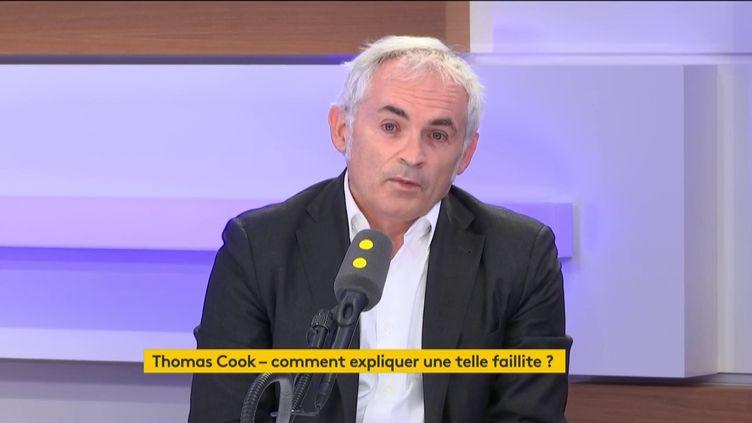Jean-François Rial, le PDG de Voyageurs du monde, est l'invité éco du 23 septembre 2019. (FRANCEINFO / RADIOFRANCE)