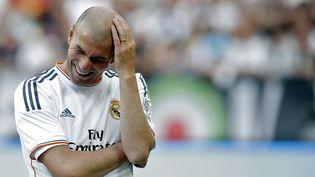 Zinédine Zidane durant un match opposant le Real Madrid à la Juventus, le 2 juin 2014 à Turin (Italie). (MARCO BERTORELLO / AFP)